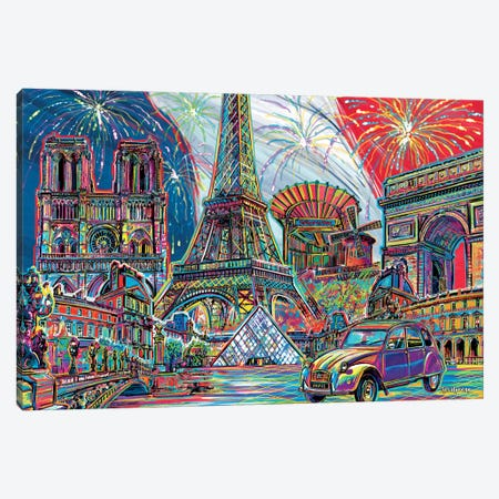 Paris Pop Art Canvas Print #PDM41} by P.D. Moreno Art Print