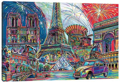 Paris Pop Art Canvas Art Print