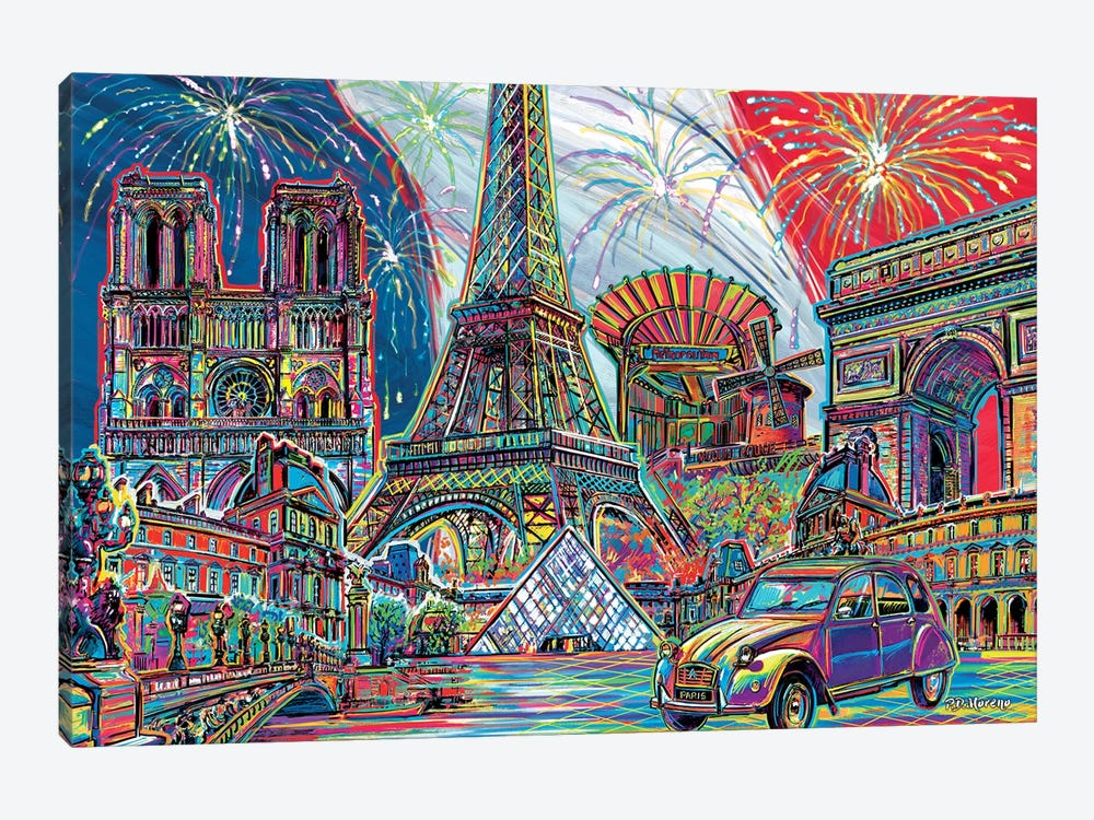 Paris Pop Art 1-piece Canvas Wall Art