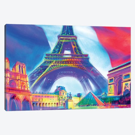 Paris Pop Colors Canvas Print #PDM44} by P.D. Moreno Canvas Wall Art