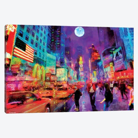Times Square In Color Canvas Print #PDM55} by P.D. Moreno Canvas Art Print