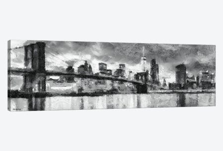 NY In Black & White Canvas Print #PDM56} by P.D. Moreno Canvas Art Print