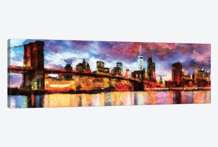 NY In Color Canvas Print #PDM57} by P.D. Moreno Art Print