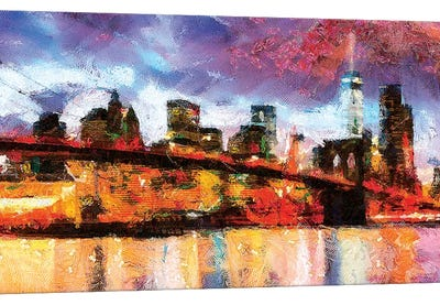 NY In Color Canvas Art Print