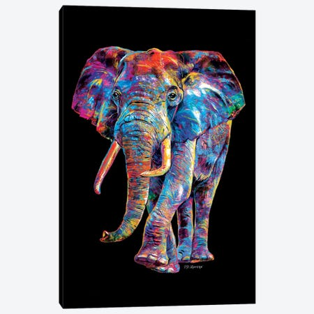 Elephant Canvas Print #PDM58} by P.D. Moreno Canvas Artwork