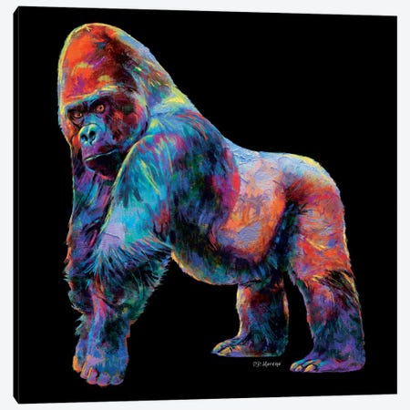 Gorilla Canvas Print #PDM60} by P.D. Moreno Art Print
