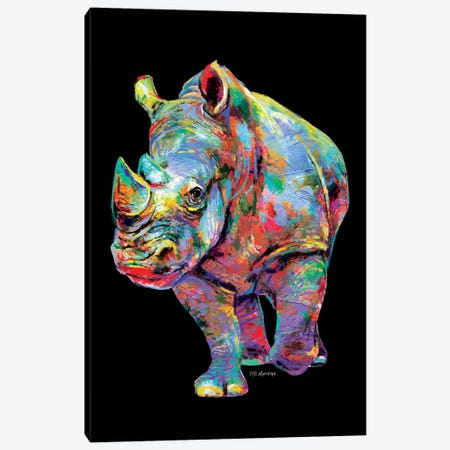 Rhino Canvas Print #PDM66} by P.D. Moreno Canvas Wall Art