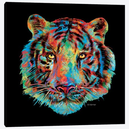 Tiger Head Canvas Print #PDM68} by P.D. Moreno Art Print