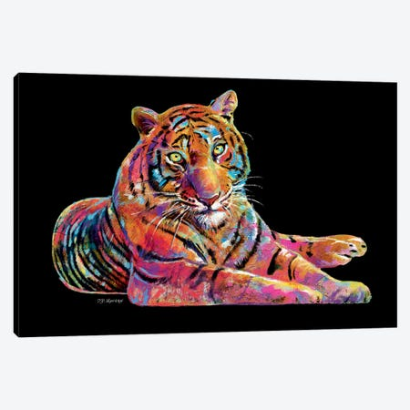 Tiger Canvas Print #PDM70} by P.D. Moreno Canvas Artwork
