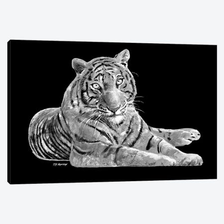 Tiger In Black And White Canvas Print #PDM71} by P.D. Moreno Canvas Artwork