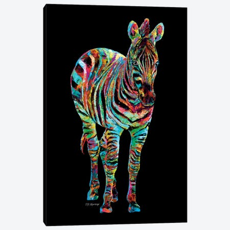 Zebra Canvas Print #PDM74} by P.D. Moreno Art Print