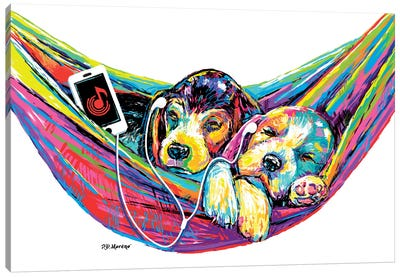 Couple Hammock Canvas Art Print