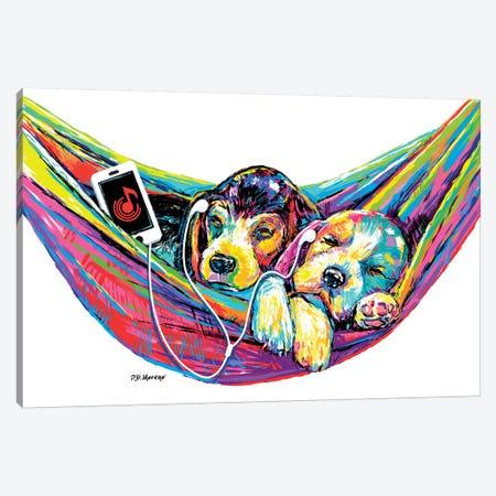 Couple Hammock Canvas Print #PDM76} by P.D. Moreno Art Print
