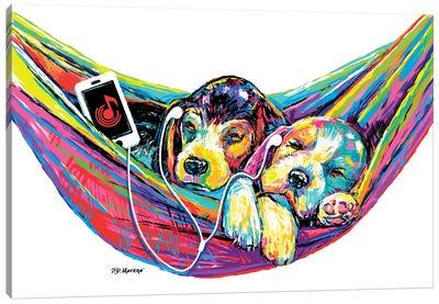 Couple Hammock Canvas Art Print