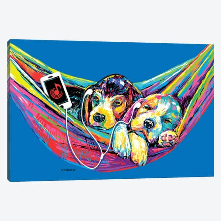 Couple Hammock In Blue Canvas Print #PDM78} by P.D. Moreno Canvas Art