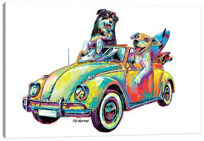 Couple Car Canvas Art Print