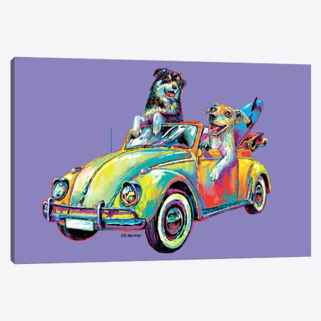 Couple Car In Purple Canvas Print #PDM83} by P.D. Moreno Canvas Print