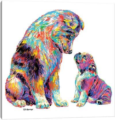 Couple Kiss Canvas Art Print