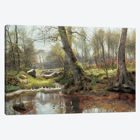 A Woodland Spring Canvas Print #PDR1} by Peder Monsted Canvas Art Print