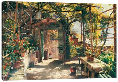 In The Pergola Canvas Art Print