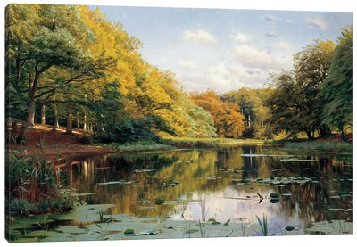 River Landscape Canvas Art Print