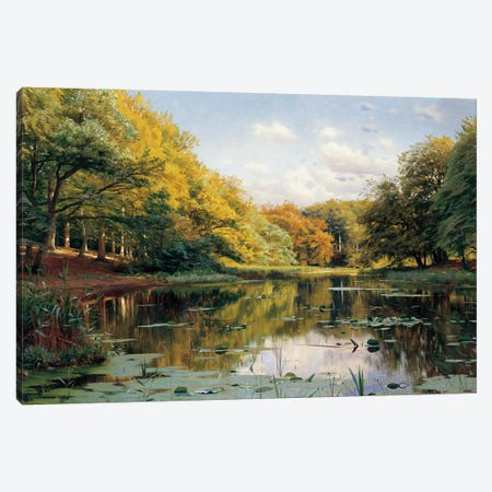 River Landscape Canvas Print #PDR4} by Peder Monsted Canvas Wall Art