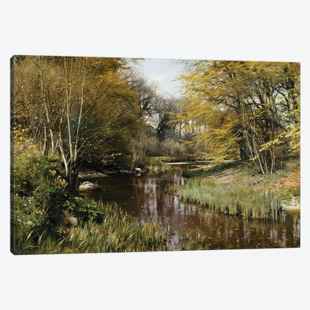A Wooded River Landscape, 1909  Canvas Print #PDR5} by Peder Monsted Canvas Wall Art