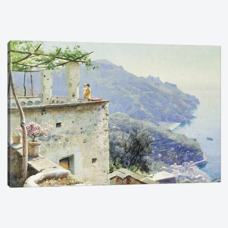 The Ravello Coastline, 1926  Canvas Print #PDR6} by Peder Monsted Canvas Artwork