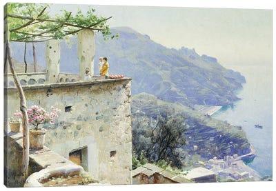 The Ravello Coastline, 1926  Canvas Art Print