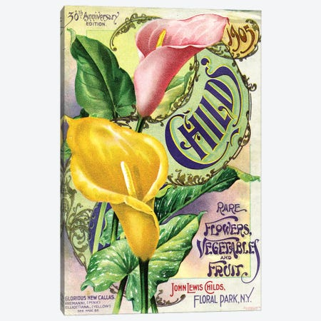 Rare Flowers Seed Catalog, from the Andersen Horticultural Library Canvas Print #PDX105} by Piddix Canvas Artwork