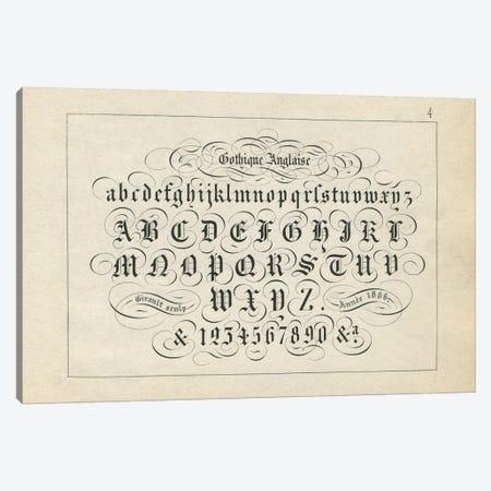 Alphabet Gothique Anglaise, Plate 4 Canvas Print #PDX10} by Piddix Canvas Print