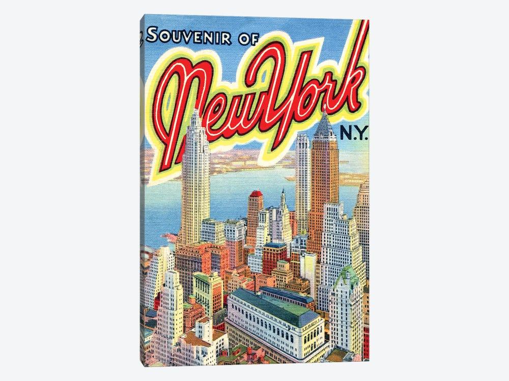 Souvenir of New York, NY, Travel Postcard by Piddix 1-piece Art Print