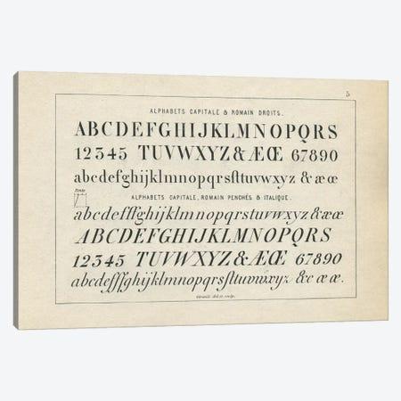 Alphabets Capitale, Plate 5 Canvas Print #PDX11} by Piddix Canvas Art Print
