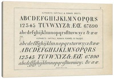 Alphabets Capitale, Plate 5 Canvas Art Print