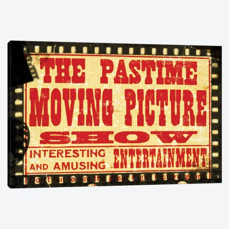 The Pastime Moving Picture Show Canvas Print #PDX127} by Piddix Canvas Wall Art