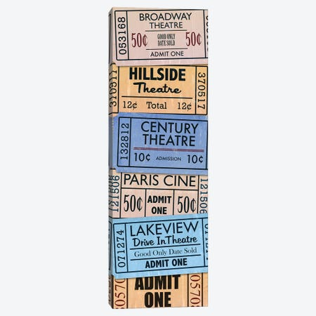 Theatre Tickets Movie Night Canvas Print #PDX128} by Piddix Canvas Print