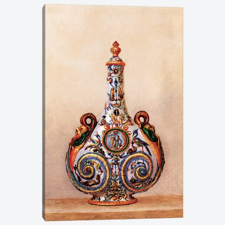 Vase, Pilgrim's Bottle, About 1560 Canvas Print #PDX136} by Piddix Art Print