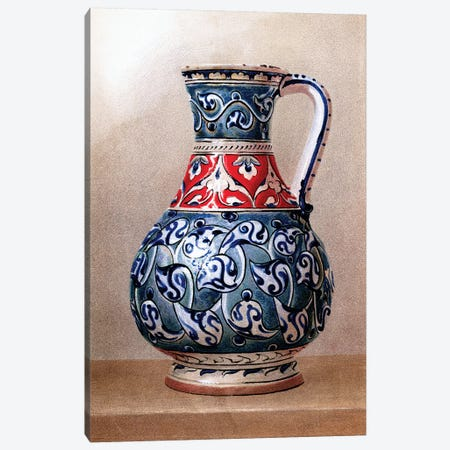 Vase-Shaped Ewer, 15th or 16th Century Canvas Print #PDX137} by Piddix Art Print