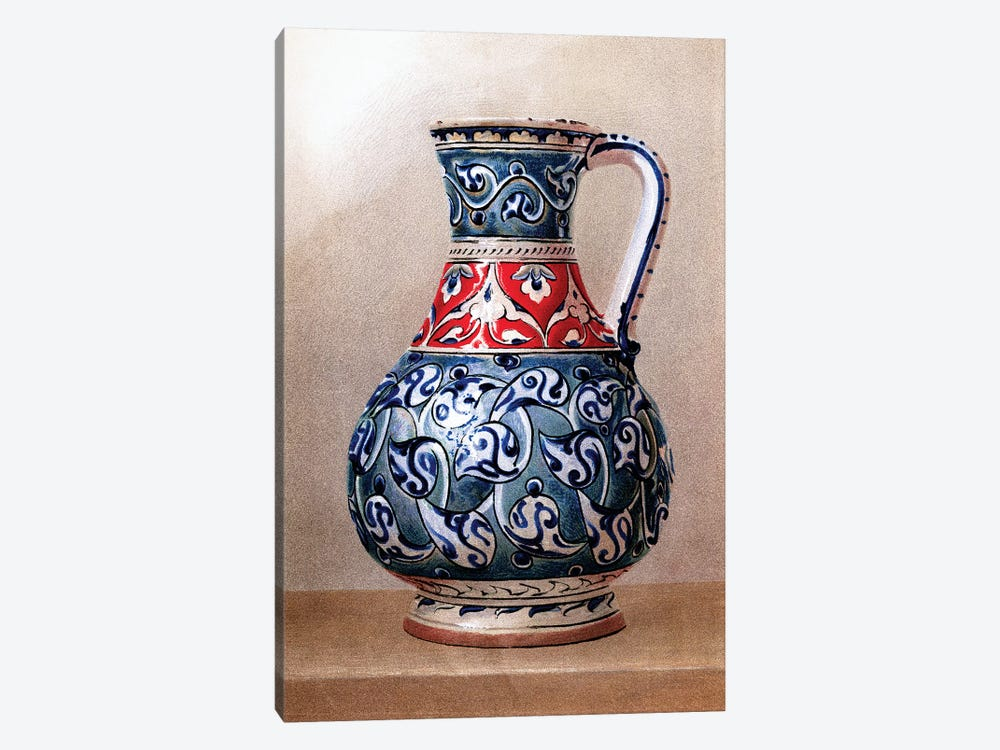 Vase-Shaped Ewer, 15th or 16th Century by Piddix 1-piece Canvas Print