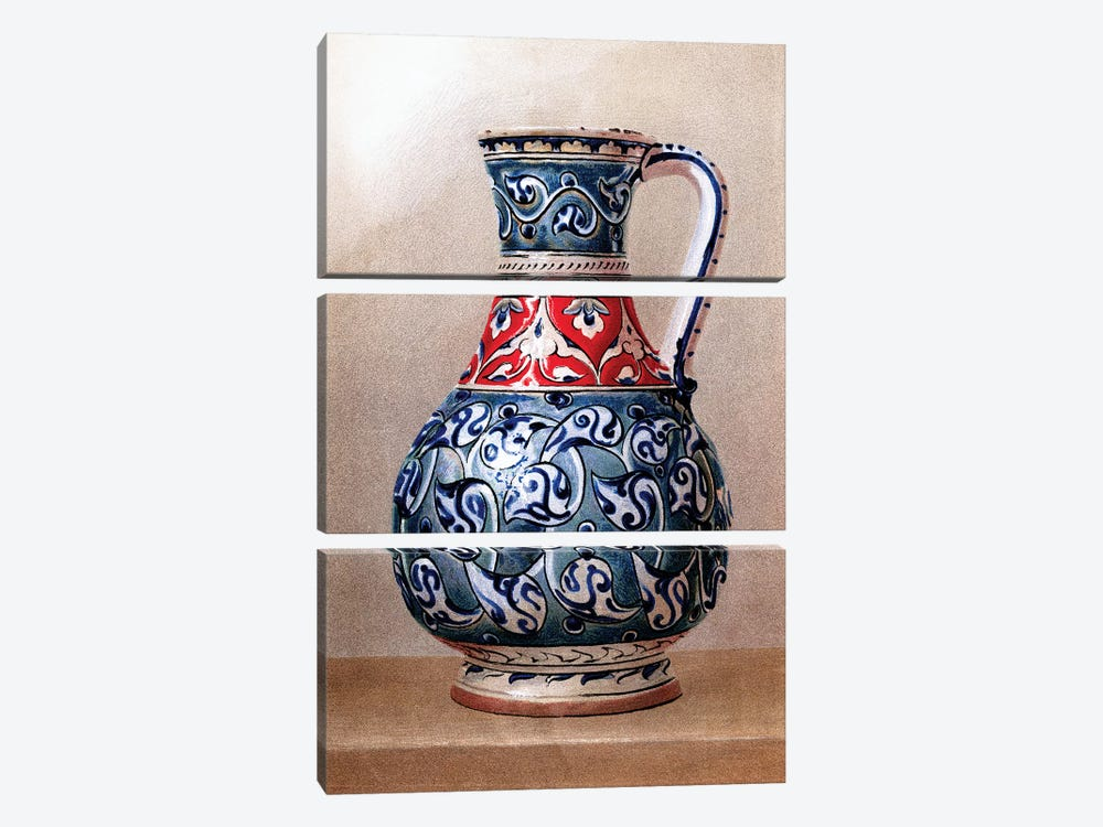 Vase-Shaped Ewer, 15th or 16th Century by Piddix 3-piece Canvas Print