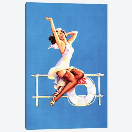 Ankels Aweigh Pin-Up by Gil Elvgren Canvas Print #PDX16} by Piddix Canvas Art