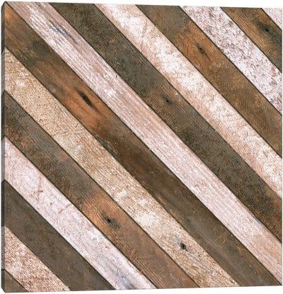 Antique Wood Stripes, 1908 Canvas Art Print