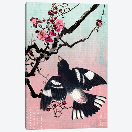 Bird and Blossoms Canvas Print #PDX24} by Piddix Canvas Print