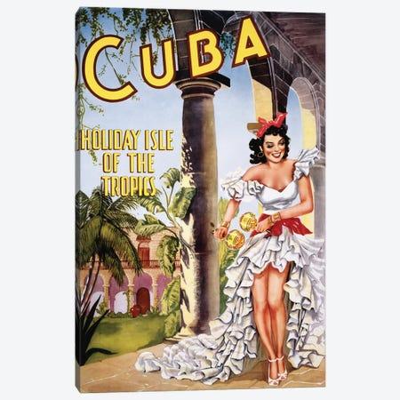 Cuban Vintage Travel Poster Canvas Print #PDX45} by Piddix Canvas Print