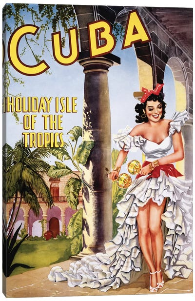 Cuban Vintage Travel Poster Canvas Art Print