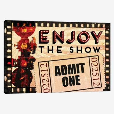 Enjoy the Show Canvas Print #PDX49} by Piddix Canvas Artwork