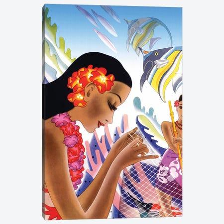 Hawaii c1940s Canvas Print #PDX65} by Piddix Canvas Art Print