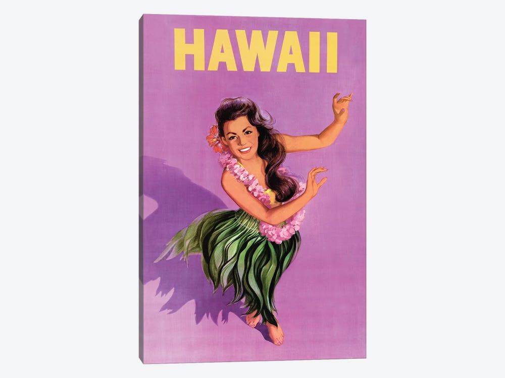 Hawaiian Hula Girl Vintage Travel Poster by Piddix 1-piece Canvas Art Print