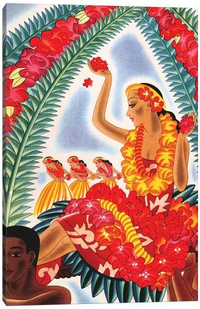 Hawaiian Hula, c1940s Canvas Art Print