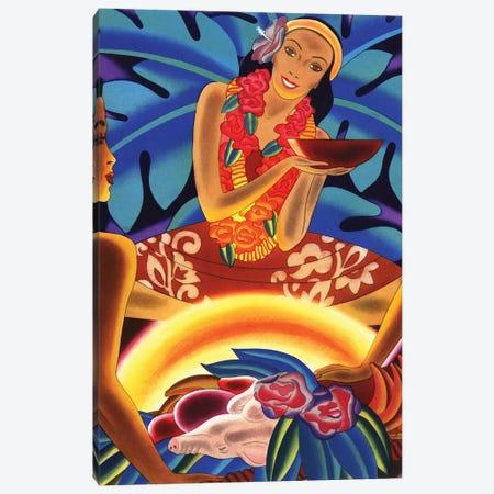 Hawaiian Luau, c1940s Canvas Print #PDX69} by Piddix Canvas Wall Art